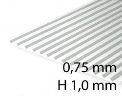 Verkleidungsplatte V-Rille 0,75 mm / H 1,0 mm