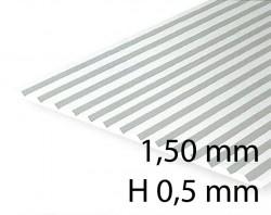Verkleidungsplatte V-Rille 1,50 mm / H 0,5 mm