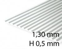 Verkleidungsplatte V-Rille 1,30 mm / H 0,5 mm