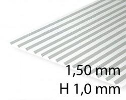 Verkleidungsplatte V-Rille 1,50 mm / H 1,0 mm