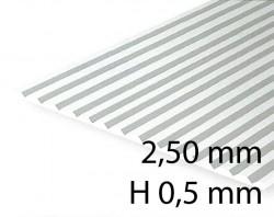 Verkleidungsplatte V-Rille 2,50 mm / H 0,5 mm