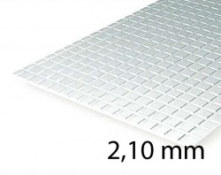 Square Tile Sheet 2,10 mm (1 Pcs.)