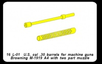 U.S. Cal. 30 MG Browning M-1919 A4 - Messing gedreht