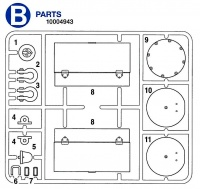 B Teile (B1-B11) für Tamiya KV-1 / KV-2 (56028, 56030) 1:16