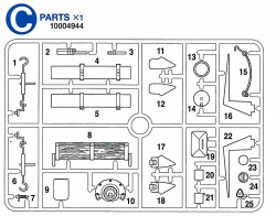 C Teile (C1-C25) für Tamiya KV-1 / KV-2 (56028, 56030) 1:16