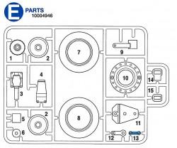 E Teile (E1-E15) für Tamiya KV-1 / KV-2 (56028, 56030) 1:16