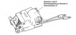 Getriebeeinheit A (links) für Tamiya KV-1 / KV-2 (56028, 56030) 1:16
