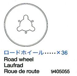 Road Wheels (36 pcs.) for Tamiya King Tiger (56018) 1:16