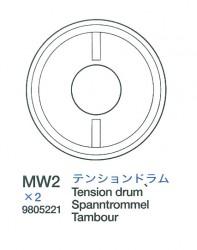 Tension Drum (MW2 x2) for Tamiya King Tiger (56018) 1:16
