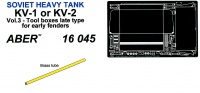 KV-1 / KV-2 PE Set Vol. 3 - Tool box late type for early fenders