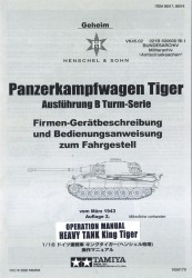 Operation Manual & Finishing Guide for Tamiya King Tiger (56018)