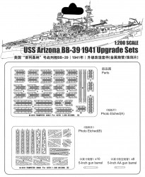 USS Arizona BB-39 1941 - PE / Metal Upgrade Set - 1/200
