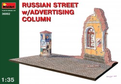Russian Street with Advertising Column - 1/35