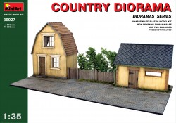 Country Diorama with Houses - 1/35