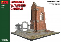 Diorama with ruined Church - 1/35
