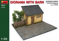 Diorama with Barn - 1/35