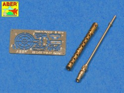 MG34 Barrel, brass turned, incl. photo-etched parts - 1:24 / 1:25