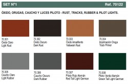 Panzer Aces - Set No. 1 - Rust, Tracks, Rubber & Pilot Lights