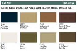 Panzer Aces - Set No. 2 - Wood, Leather, Stencil, Canvas & Mud