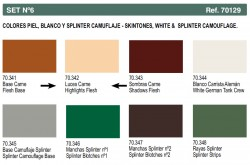 Panzer Aces - Set Nr. 6 - Hauttöne, Weiß & Splittertarnung