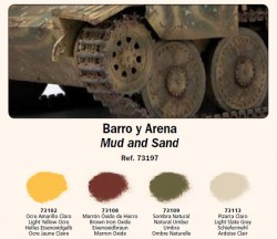 Schlamm und Sand (Mud and Sand) - Vallejo Pigment Set