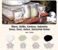 Schnee, Ruß, Asche, Industriedreck - Vallejo Pigment Set