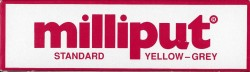 Milliput - Standard - Gelb / Grau (Grey Yellow) - 2K Spachtelmasse