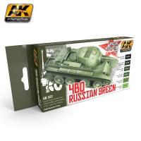 4BO Russisch Grün - Special Modulation Style Set (6 Acryl-Farben)