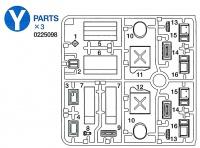 Zubehörset für US Fahrzeuge (Benzinkanister, Kiste usw.)  1:16