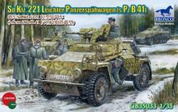 German Sd.Kfz. 221 Leichter Panzerspähwagen (s.Pz.B.41) - 1/35