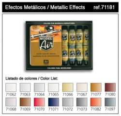 Model Air Metallic Effects Color Set