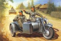 Deutsche Wehrmacht Motorradgespann Zündapp KS750 mit Beiwagen BW40