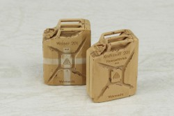German Wehrmacht 20 Liter Jerry Cans - Fuel and Water (3 pcs. each)