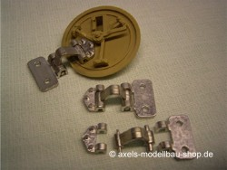 Metal Hatch Hinges for Tamiya Tiger I, movable