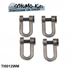 Towing Shackles Tiger I - 1/16 (4 pcs with flathead bolt)