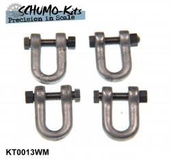 Towing shackles for Tiger Ausf. B / King Tiger - 1/16 (4 pcs.)