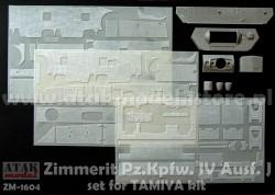 Zimmerit für Tamiya Panzerkampfwagen IV Ausf. J