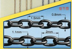 40 cm universal fine chains set - two types - 1 pc. each