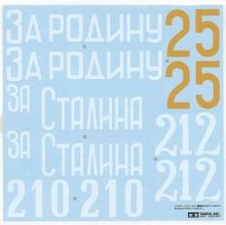 Abziehbilder für Tamiya KV-1 (56028) 1:16