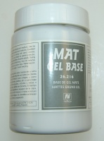 Vallejo Texturen - Mattes Basis Gel, transparent / Mat Gel Base