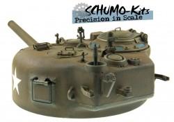 105mm Howitzer Super Detail Turm für Tamiya M4A3E8 Sherman