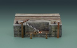 Dock mit Treppe / Kaimauer mit Treppe / Dock with Stairs - 30 cm - 1:35