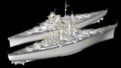 German Kriegsmarine Battleship Bismarck - 1/200
