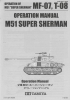Operation Manual for Tamiya Super Sherman (56032) 1:16
