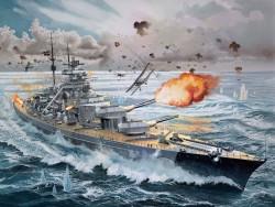 Deutsches Schlachtschiff Bismarck - 1:350