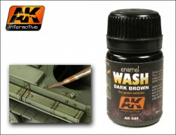 AK-045 Dark Brown Wash / Dunkel braunes Wash