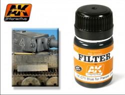 AK-071 Blue for Panzergrey Filter / Blauer Filter für Panzergrau