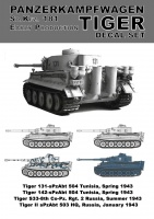 Tiger I Decal Sheet - Decals from 36203 / 84273