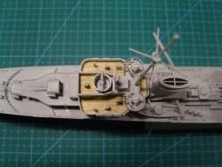 Holzdeck für 1:350 DKM Zerstörer Z-43 1944 - Trumpeter 05323 - 1:350