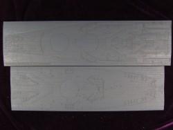Holzdeck Blau für 1:350 USS Missouri BB-63 - Tamiya 78018 - 1:350
